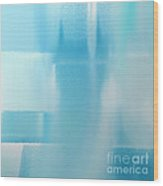 Abstract Blue 2 Square Wood Print