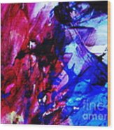 Abstract Blue And Pink Festival Wood Print by Andrea Anderegg