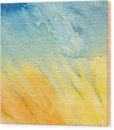 Abstract Blue And Yellow Wood Print