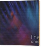 Abstract Blue Pink Green Blur Wood Print