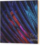 Abstract Blue Red Green Blur Wood Print