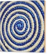 Abstract Blue Swirl Wood Print