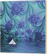 Abstract Blue World Wood Print