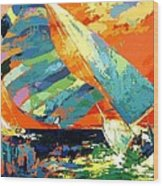 Abstract Boat Ride  Wood Print