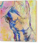 Abstract Bod 6 Wood Print