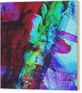 Abstract Bold Colors Wood Print by Andrea Anderegg
