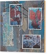 Abstract Branch Collage Trio Wood Print