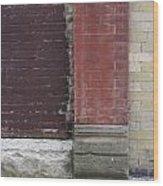 Abstract Brick Wall 1 Wood Print