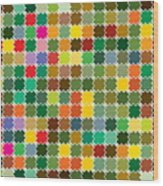 Abstract Bright Colorful Seamless Wood Print