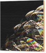 Abstract Bubbles Wood Print