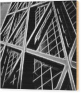 Abstract Buildings 2 Wood Print