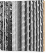 Abstract Buildings Wood Print