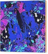 Abstract Butterfly #2 Wood Print