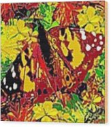 Abstract Butterfly #3 Autumn Wood Print