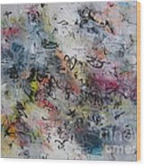 Abstract Butterfly Dragonfly Painting Wood Print