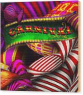 Abstract - Carnival Wood Print