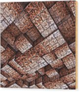 Abstract Ceiling Stone Construction  Wood Print