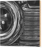 Abstract Chrome Wood Print