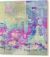 Abstract City Wood Print by Mark-Meir Paluksht
