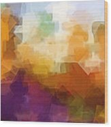 Abstract Cityscape Cubic Wood Print