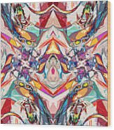 Abstract Color Mix Wood Print