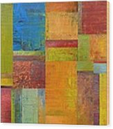 Abstract Color Study Collage Ll Wood Print