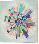 Abstract Color Wheel Wood Print