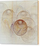 Abstract Colorful 3d Bubbles Fractal  Wood Print