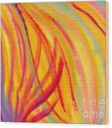 Abstract Colorful Lines Wood Print