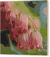 Abstract Coral Bells Wood Print