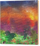 Abstract - Crayon - Utopia Wood Print by Mike Savad