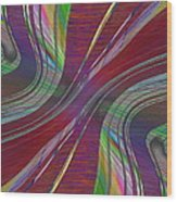 Abstract Cubed 181 Wood Print