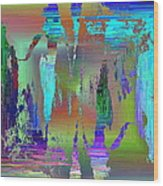 Abstract Cubed 75 Wood Print