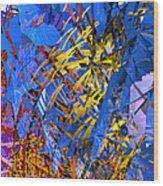 Abstract Curvy 11 Wood Print