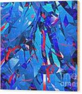 Abstract Curvy 15 Wood Print