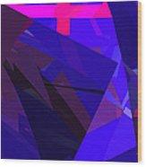 Abstract Curvy 17 Wood Print