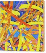 Abstract Curvy 22 Wood Print