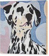 Abstract Dalmatian Wood Print