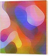 Abstract Dappled Sunlight Wood Print by Amy Vangsgard