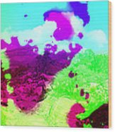 Abstract Desert Scene Wood Print