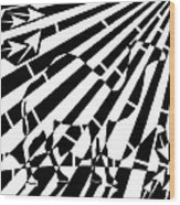 Abstract Distortion Camel Maze  Wood Print