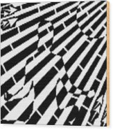 Abstract Distortion Sun Meditation Maze  Wood Print