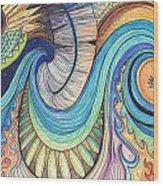 Abstract Dragon Wood Print