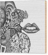 Abstract Drawing #1 - Young Woman Wood Print