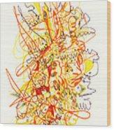 Abstract Drawing Fifty-three Wood Print