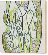 Abstract Drawing Forty-four Wood Print