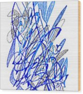 Abstract Drawing Seventy Wood Print