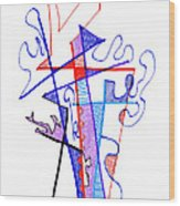 Abstract Drawing Sixty-nine Wood Print
