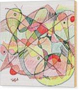 Abstract Drawing Twenty Wood Print