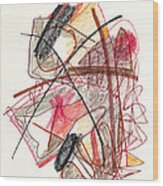 Abstract Drawing Twenty-one Wood Print